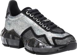 Black & Glitter 'Diamond' Sneakers