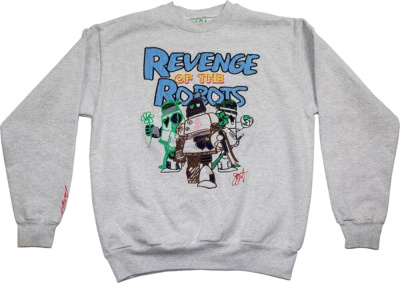 Jj Grant Revenge Of The Robots Crewneck