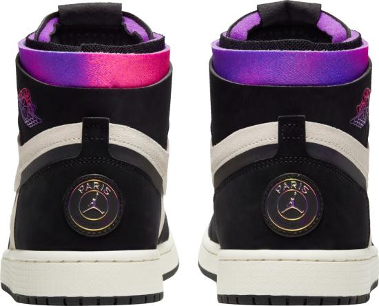 Jordan 1 High X Paris Saint Germain White Black Purple