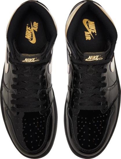 Jordan 1 Metallic Black Gold