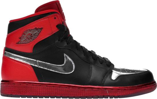 Jordan 1 Retro High Black Red Metallic Silver