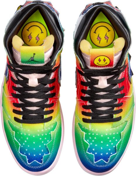 Jordan 1 Retro High Multicolor Rainbow Tie Dye