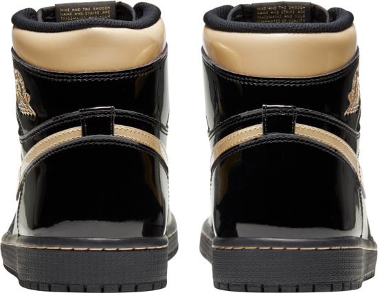 Jordan 1 Retro High Patent Black And Gold