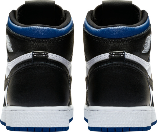 Jordan 1 Retro High White Black Blue Sneakers
