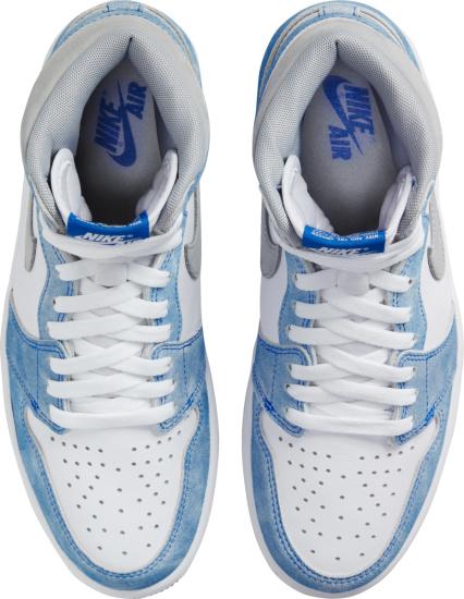 Jordan 1 Retro High White Light Blue And Grey