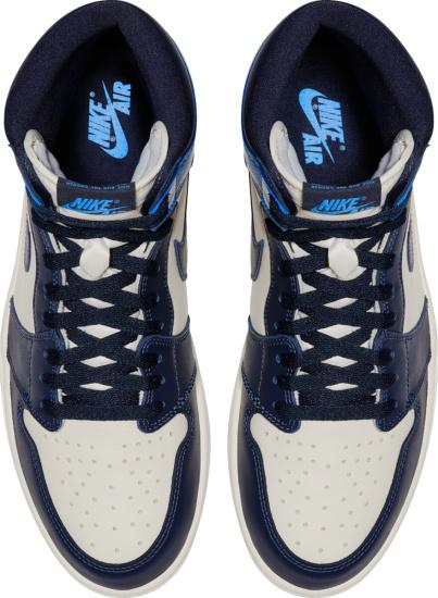 Jordan 1 Retro High White Navy And Light Blue