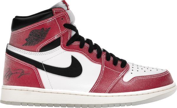 Jordan 1 Retro High White Red Glitter Trophy Room Chicago Da2728 100