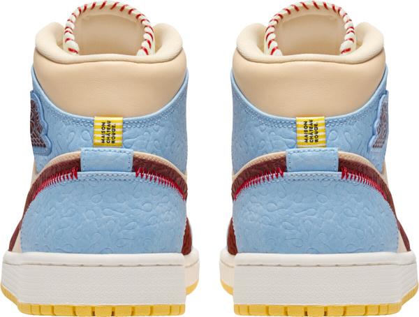 Jordan 1 Retro Mid Light Blue Beige Brown And Yellow Sneakers