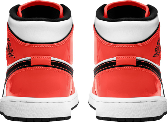Jordan 1 Retro Mid Patent Orange