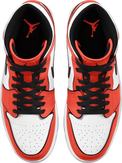 Jordan 1 Retro Mid White Turf Orange And Black