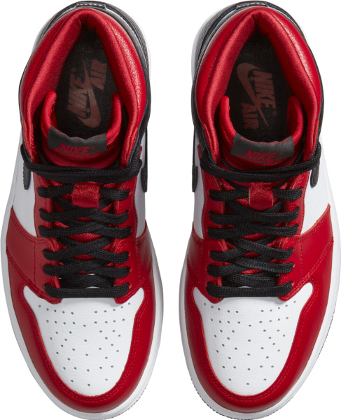 Jordan 1 Retro Og White Satin Red Black Snakeskin