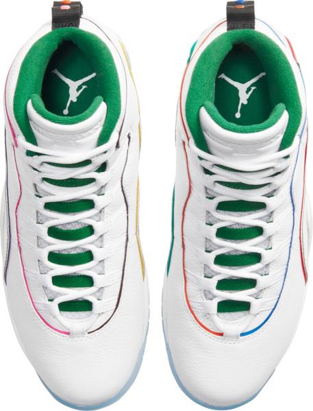 Jordan 10 Retro White Green Multicolor