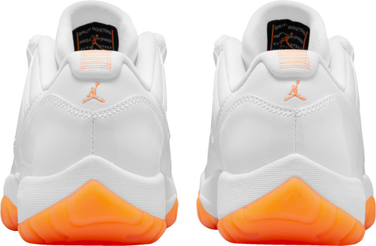 Jordan 11 Retro Low White And Neon Orange