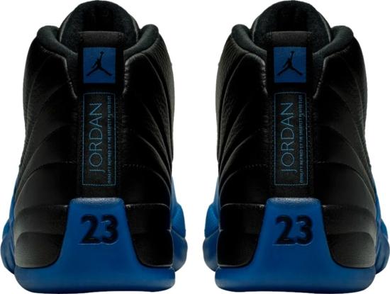Jordan 12 Retro Black Neon Blue