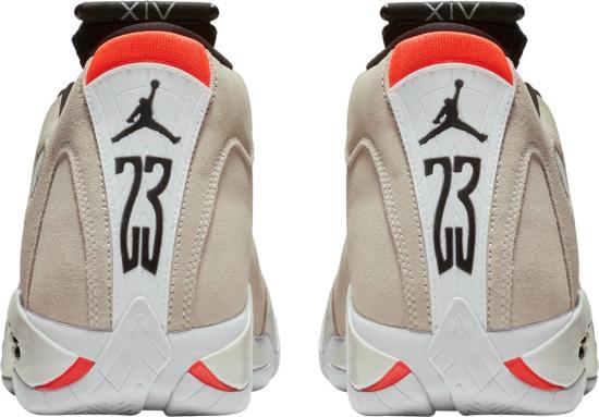 Jordan 14 Beige Red Black White