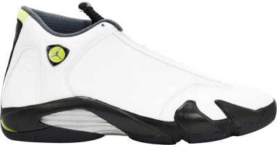 Jordan 14 Retro White Chartrusse