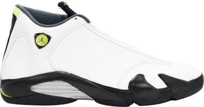 Jordan 14 Retro White Chartrusse