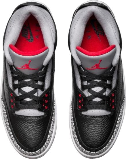 Jordan 3 Black Red And Grey
