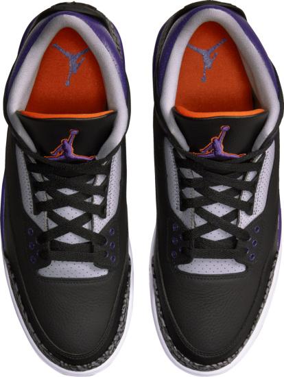 Jordan 3 Retro Black Purple And Grey
