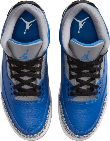 Jordan 3 Retro Grey Blue Cement