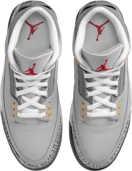 Jordan 3 Retro Light Grey Sneakers