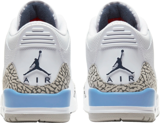 Jordan 3 Retro White Baby Blue Cement Elephant