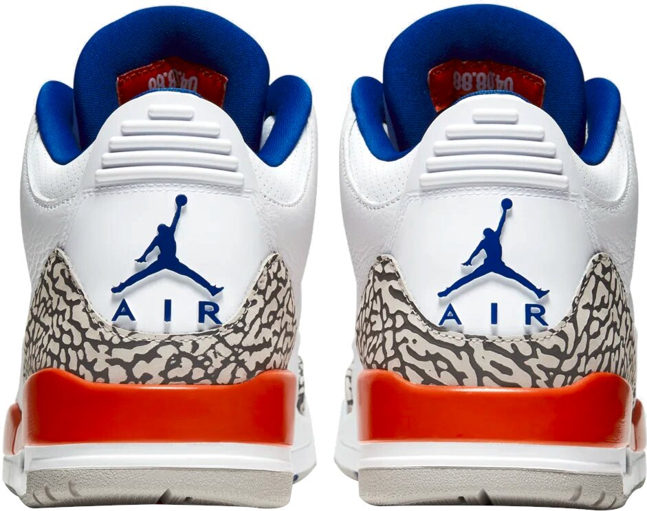 Jordan 3 Retro White Orange Knicks