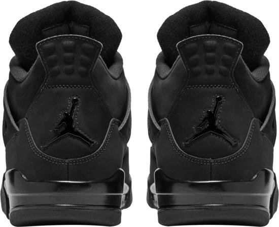 Jordan 4 All Black Sneakers