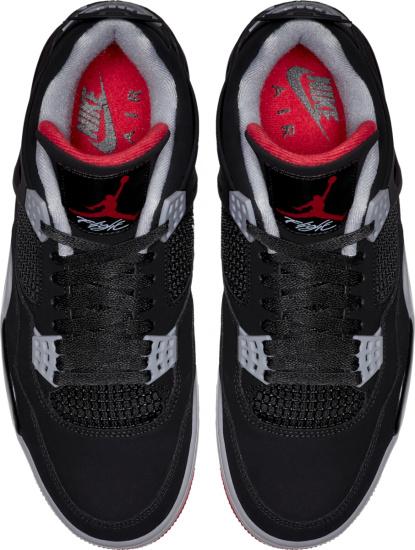 Jordan 4 Black Grey Red