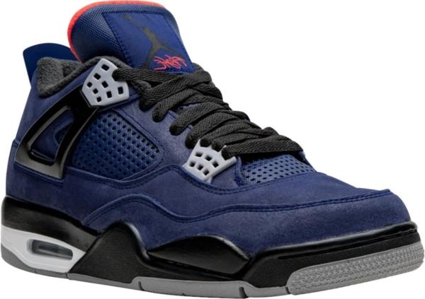 Jordan 4 Navy Leather Sneakers