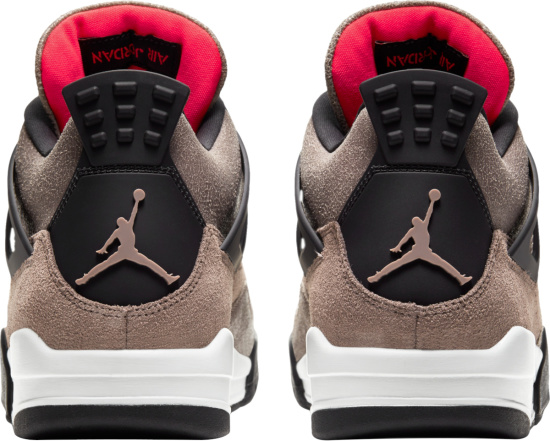 Jordan 4 Retro Brown Taupe Suede Black And Red