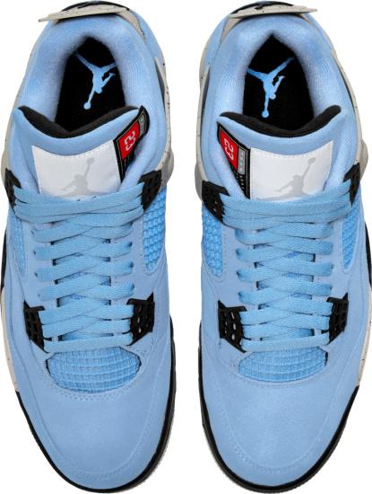Jordan 4 Retro Light Blue And Grey