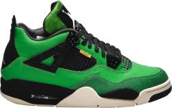 Jordan 4 Retro Manila Green Black And Yellow Sneakers