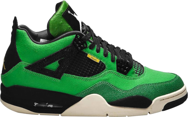 Jordan 4 Retro Manila Green Black And Yellow Sneakers