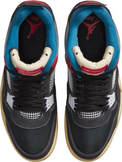 Jordan 4 Retro Sp Black Blue Red And Beige Sneakers