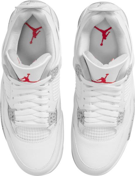 Jordan 4 Retro White And Light Grey Cement