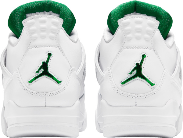 Jordan 4 Retro White And Metallic Green