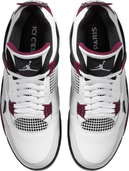 Jordan 4 Retro White Purple Black