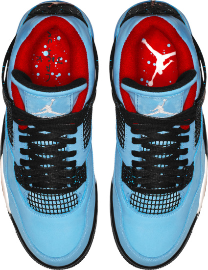 Jordan 4 Retro X Travis Scott Light Blue