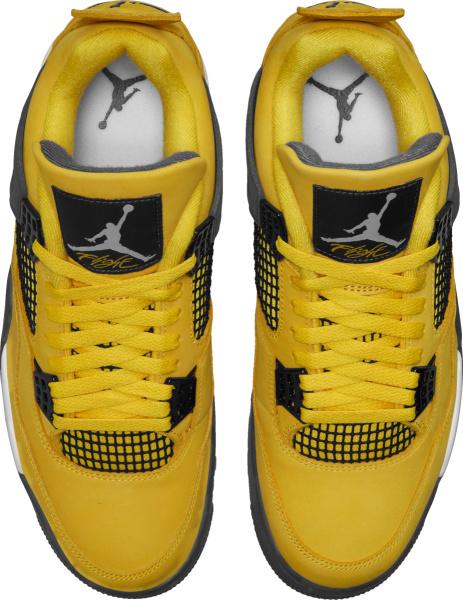Jordan 4 Retro Yellow And Grey Sneakers