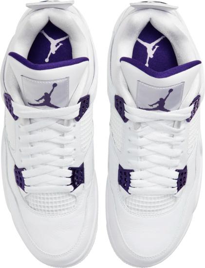 Jordan 4 White Metallic Purple