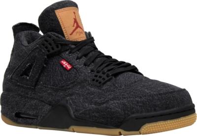 Jordan 4 X Levi Black Denim Sneakrs