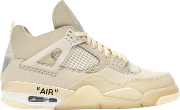 Jordan 4 X Off White Ivory Sail Sneakers