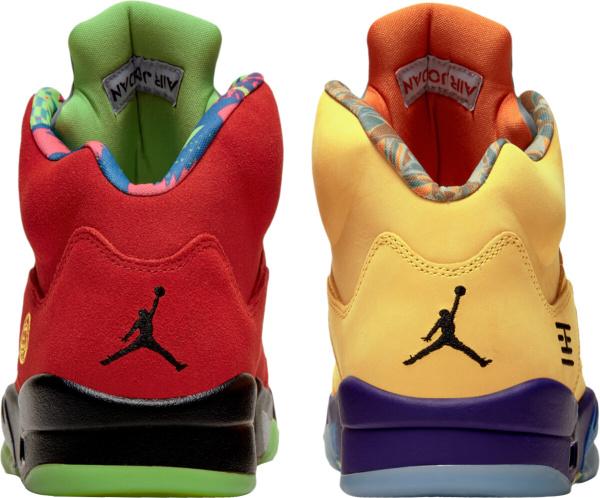 Jordan 5 Retro Red Yellow Mismatching