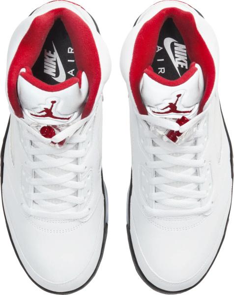 Jordan 5 Retro White Red Silver