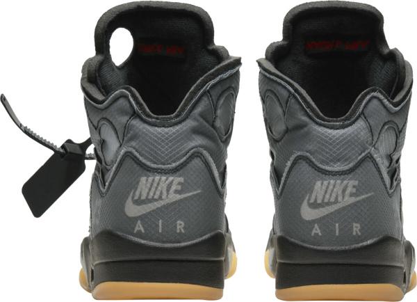 Jordan 5 X Off White Dark Grey Black Sneakers
