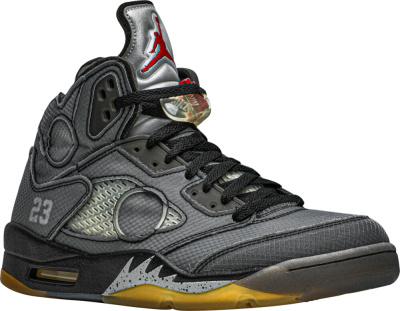 Jordan 5 X Off White Muslin Sneakers