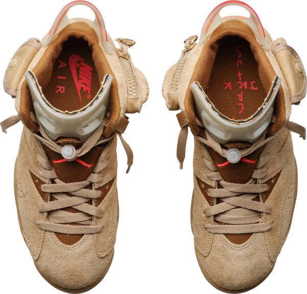 Jordan 6 Retro Beige Khaki Suede Sneakers