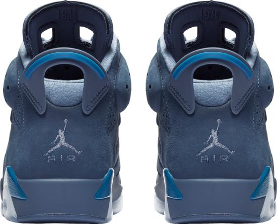 Jordan 6 Retro Diffused Blue Court Blue Sneakers