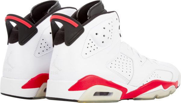 Jordan 6 Retro White Bright Red